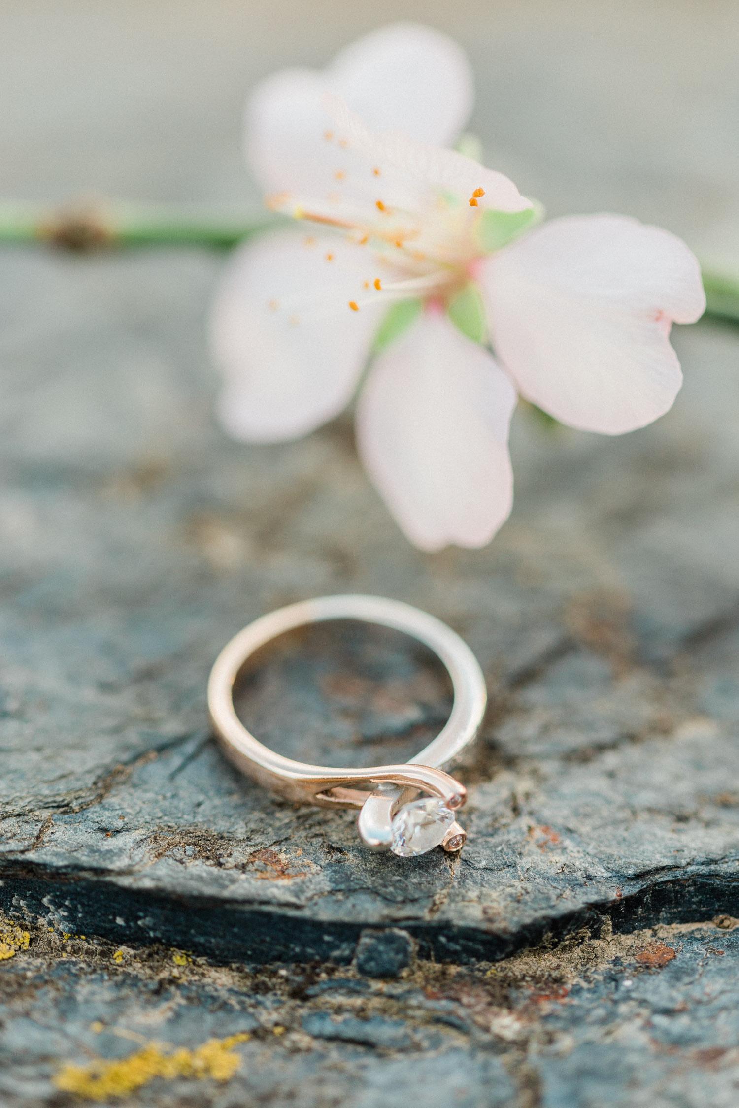 engagement ring detail shoot