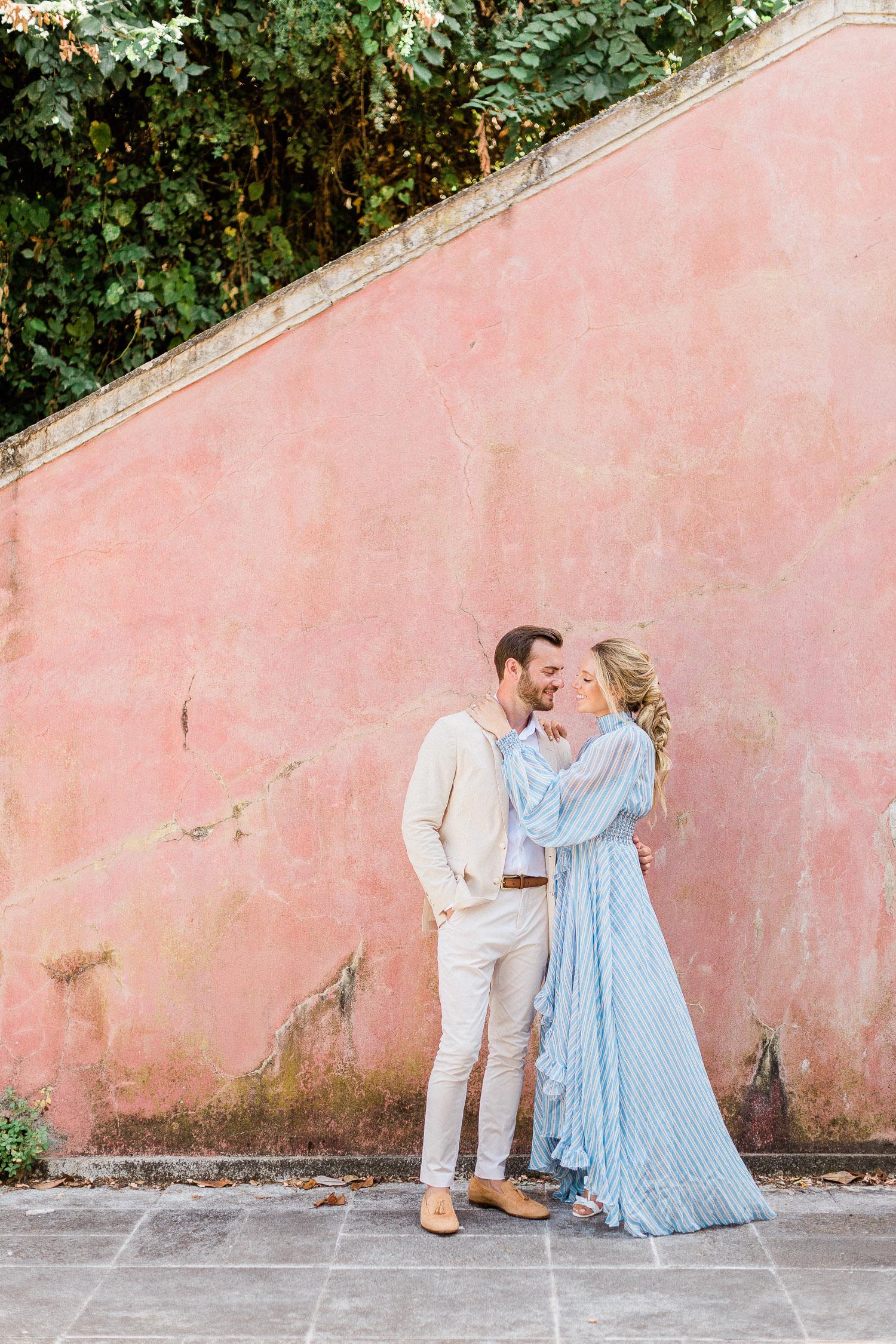 chic pre wedding portrait at Corfu island