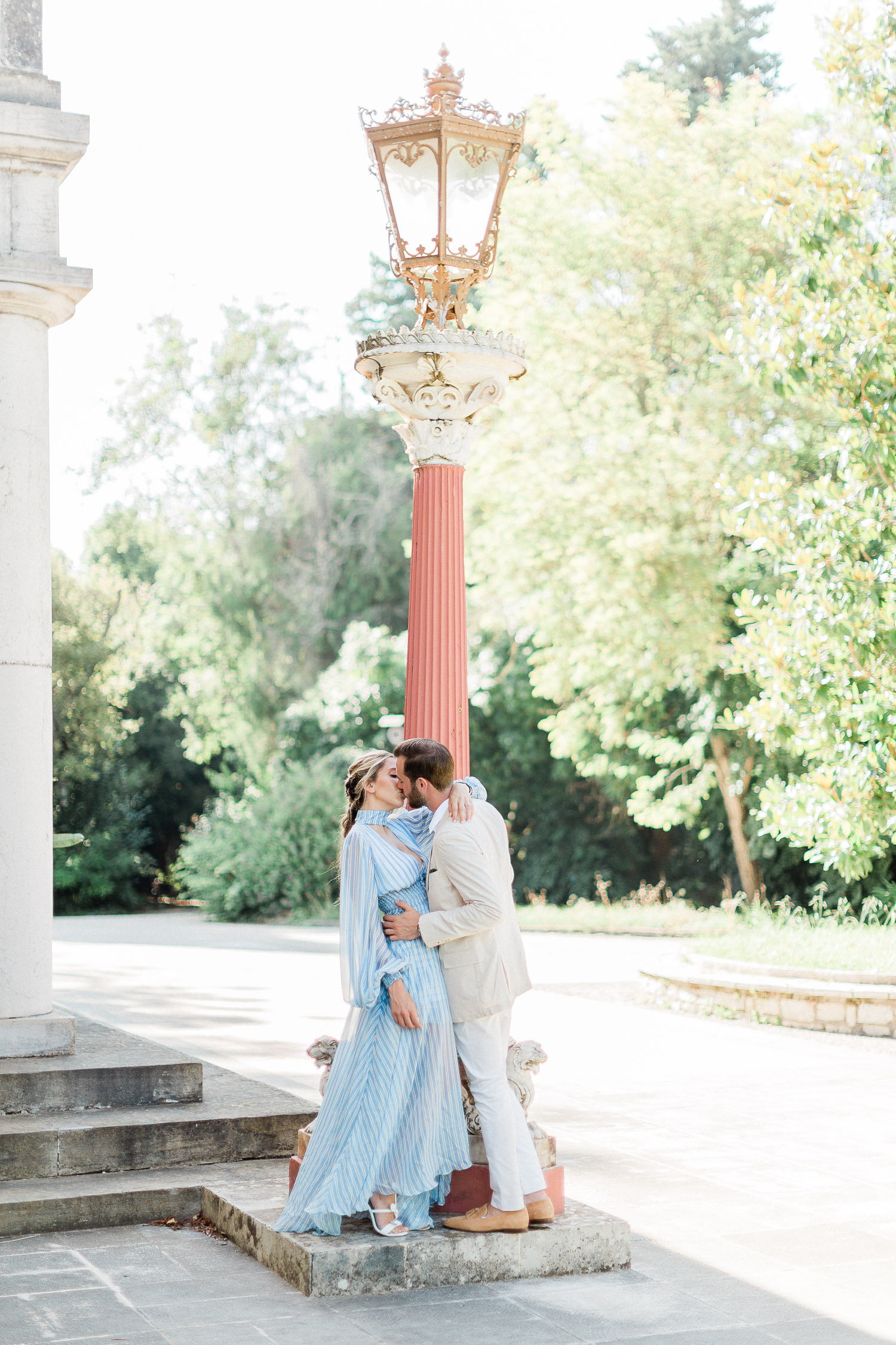 chic fine art pre wedding session at Corfu