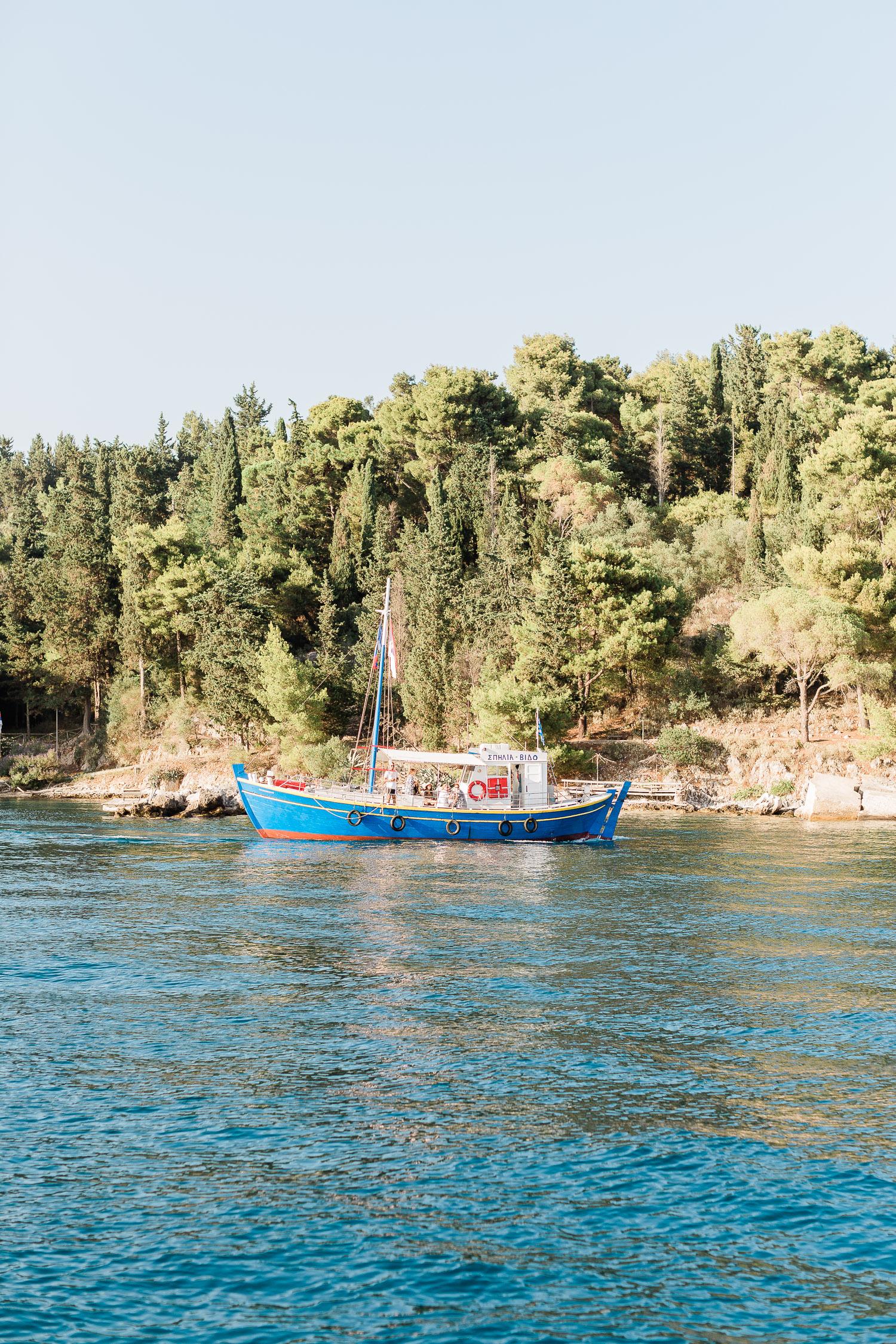 beautiful view of Vido island at Corfu