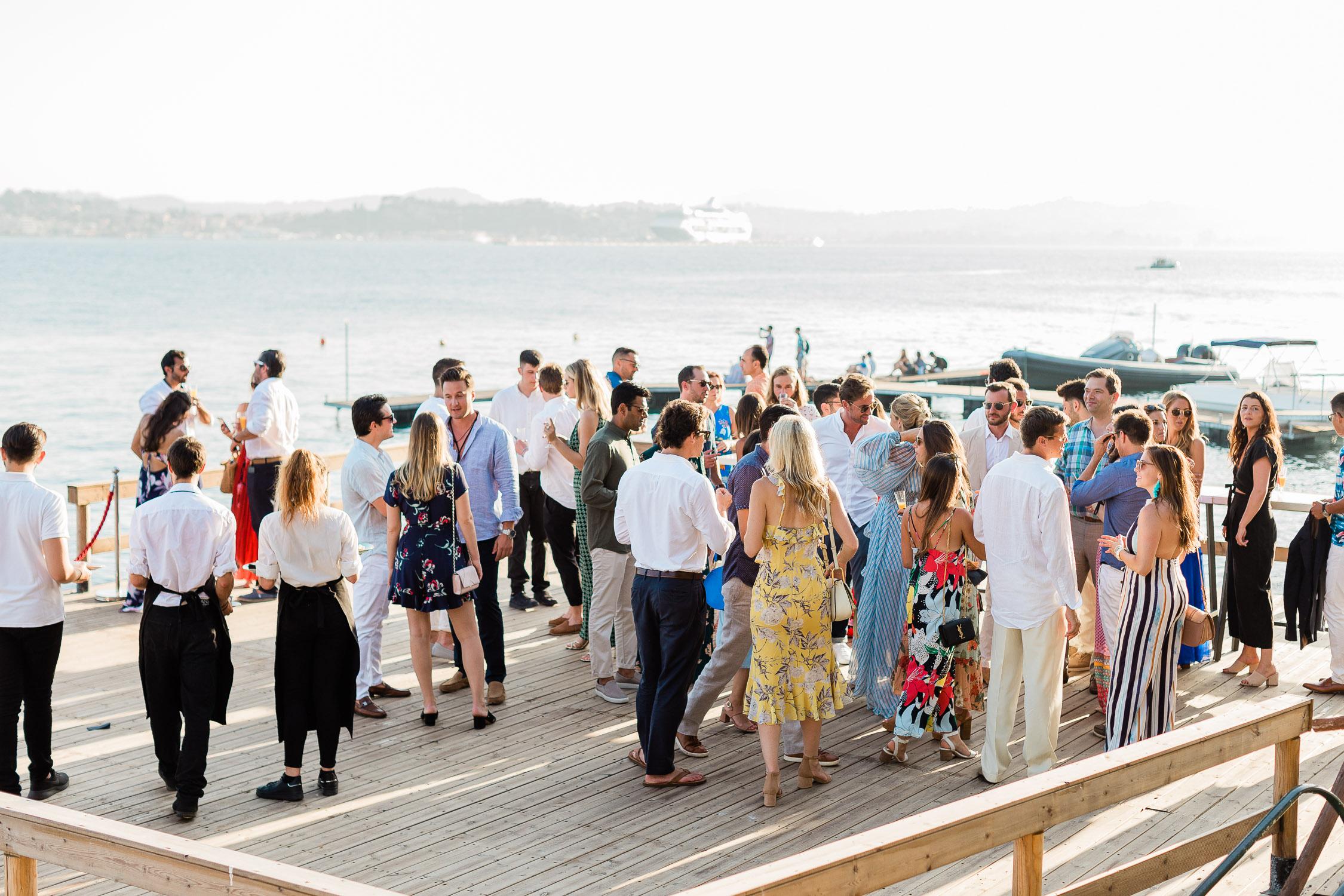 wedding guests at Corfu island