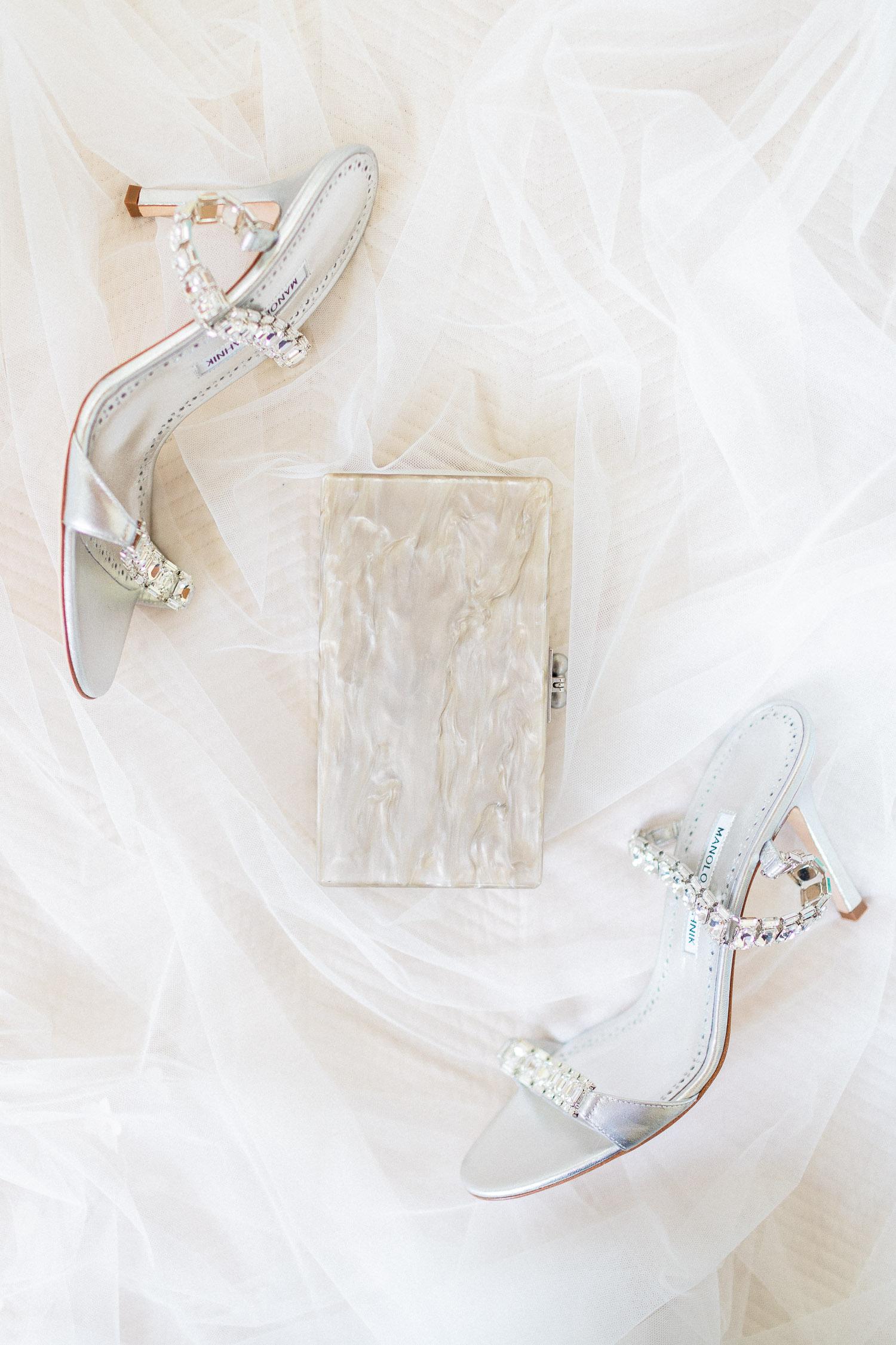 bridal shoes on a July wedding in Corfu