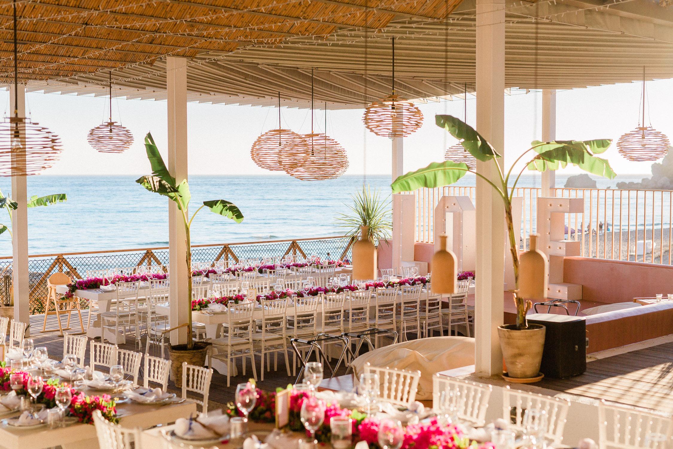 venue on a July wedding in Corfu