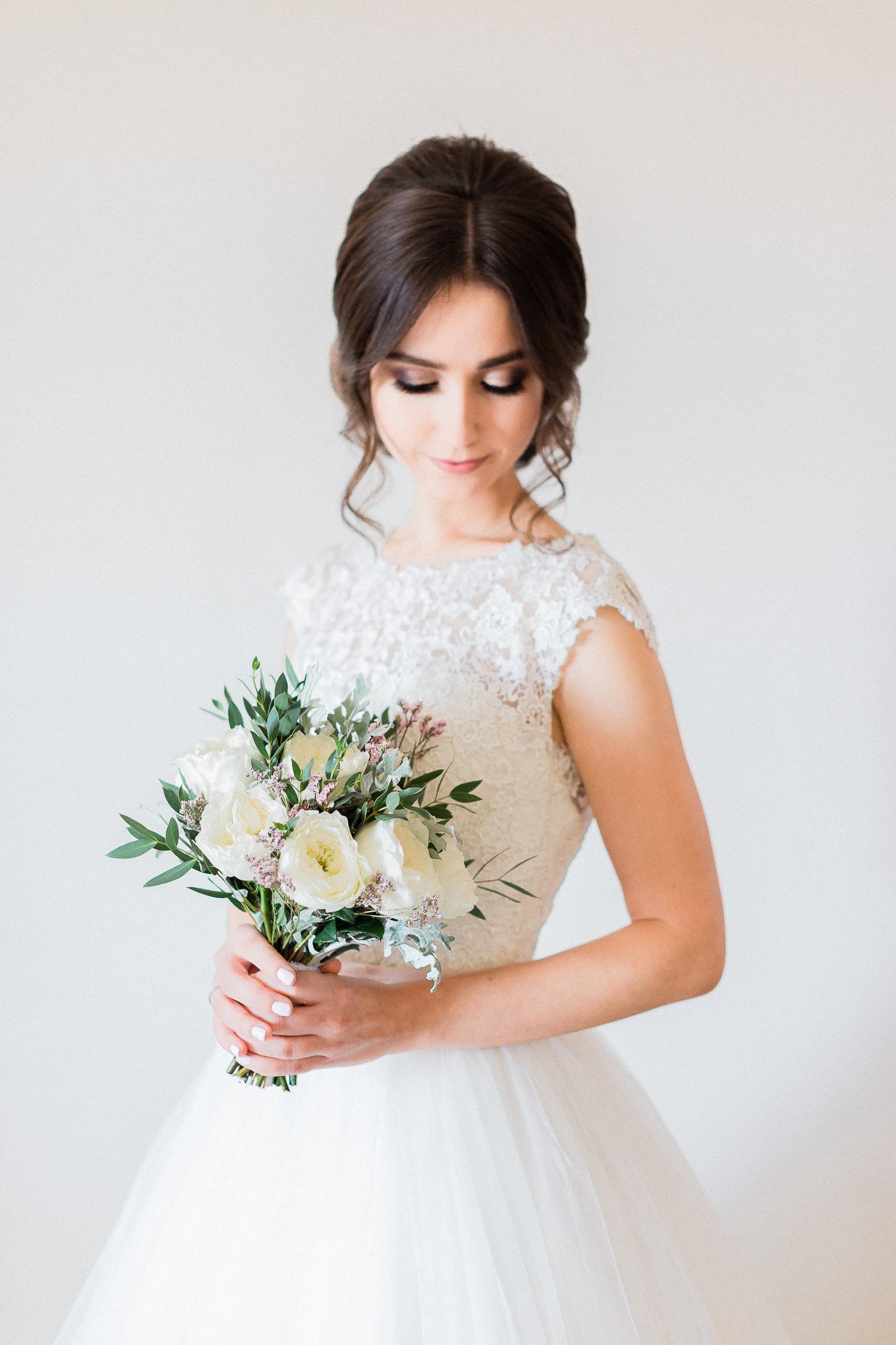 bridal portrait on wedding in Halkidiki