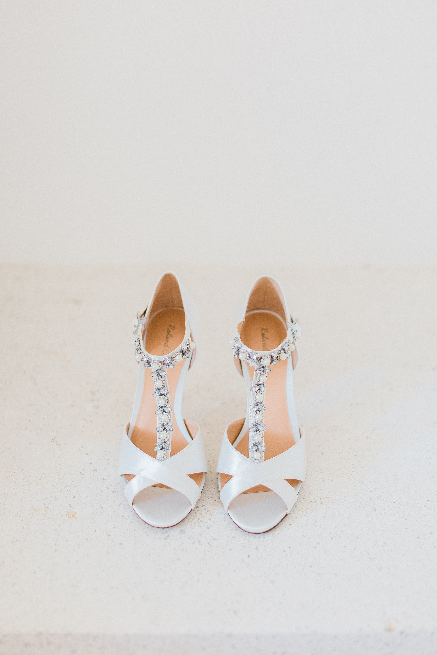 Bridal shoes on a Traditional corfu estate wedding