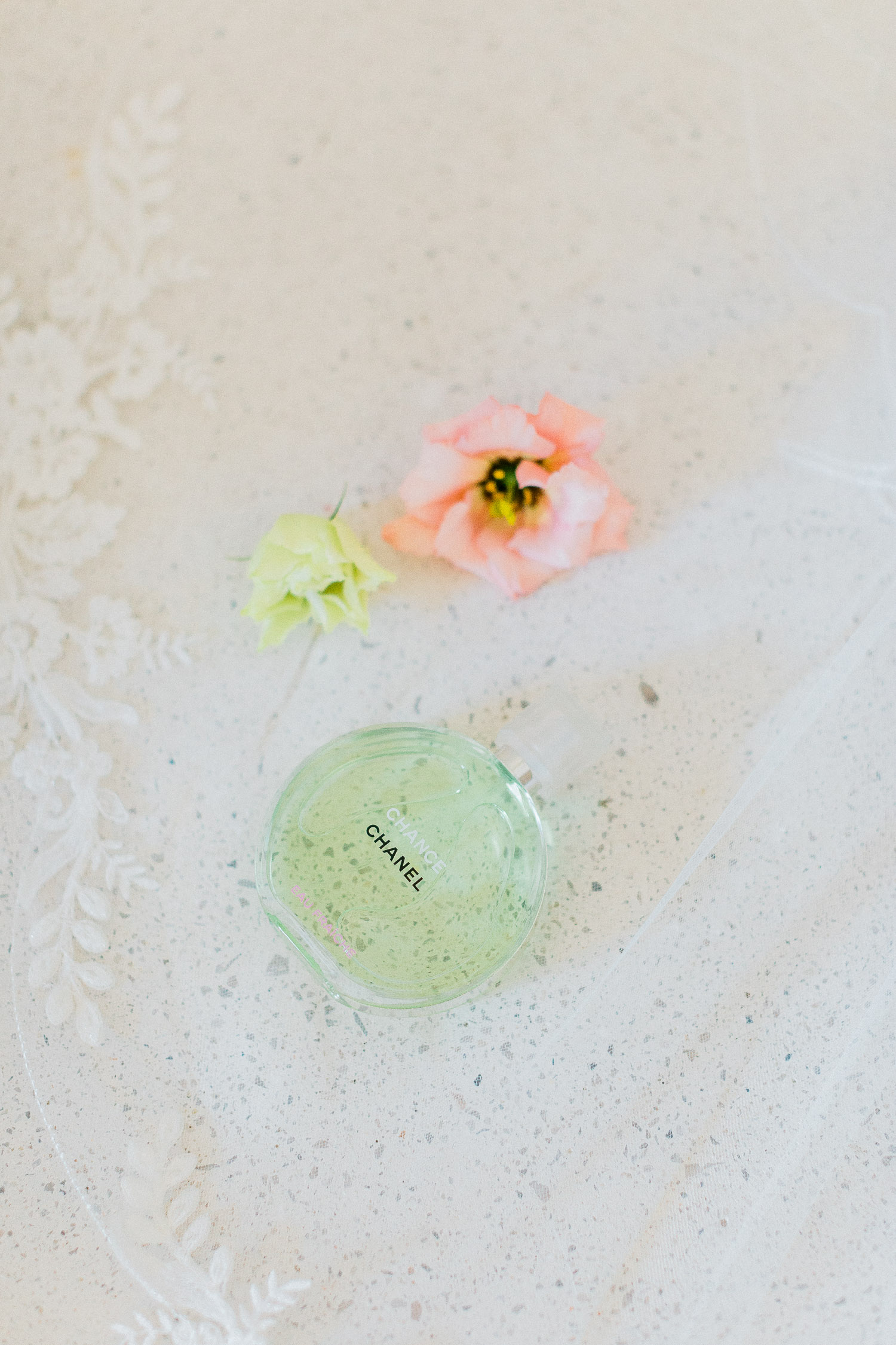 bride's perfume on her wedding day on a Traditional corfu estate wedding