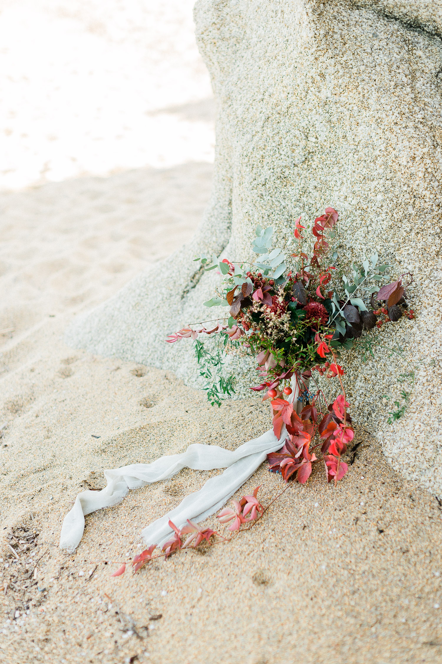 lovely wedding bouquet made from lush florals