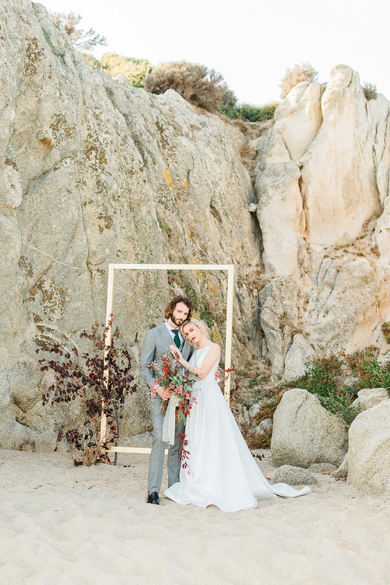 bride & groom while ceremony