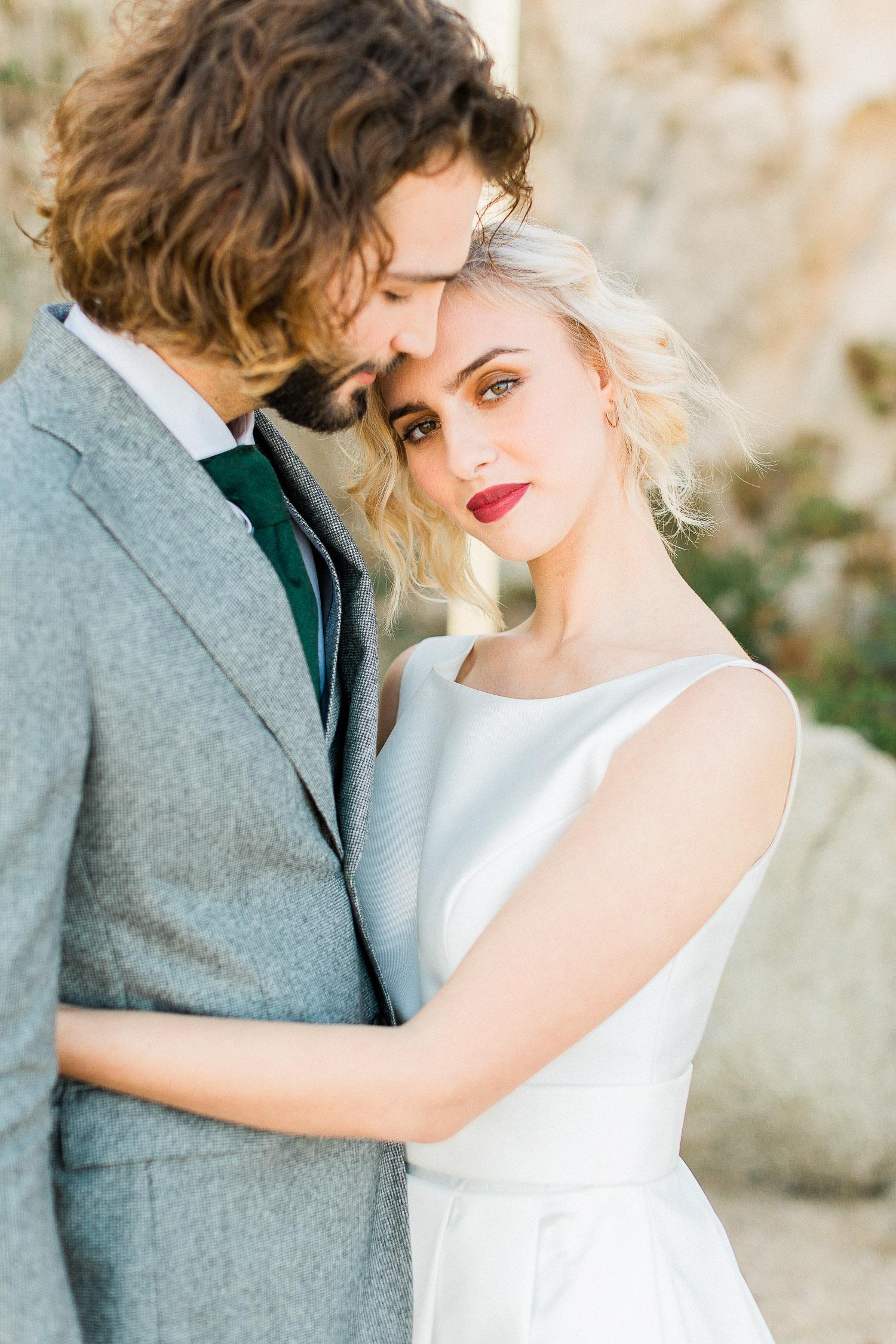 couple portrait while elopement