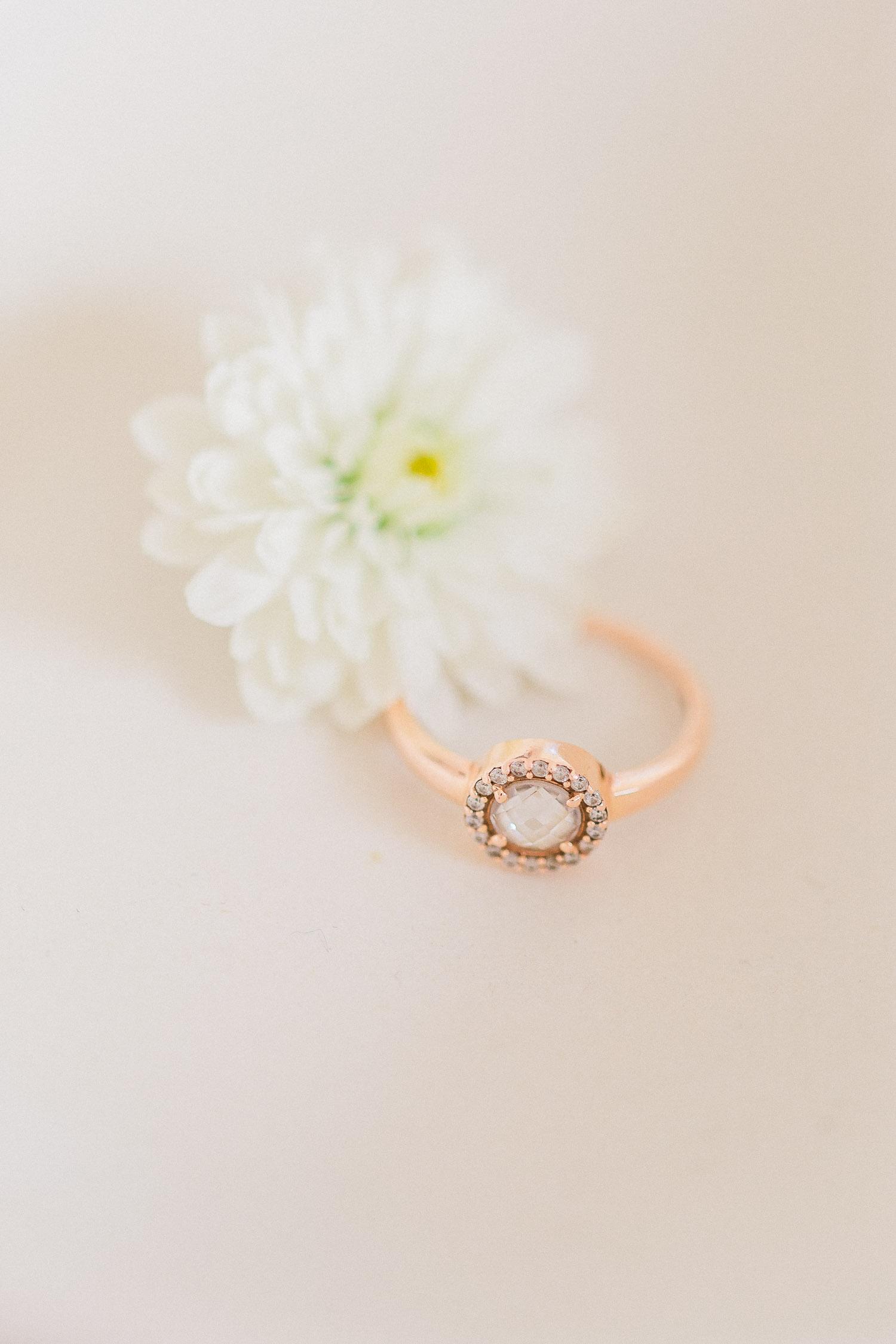 Corfu organic wedding engagement ring
