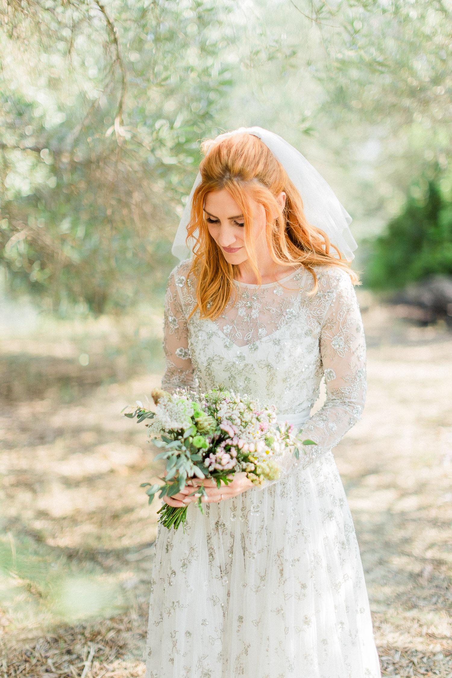 Corfu organic wedding bride to be