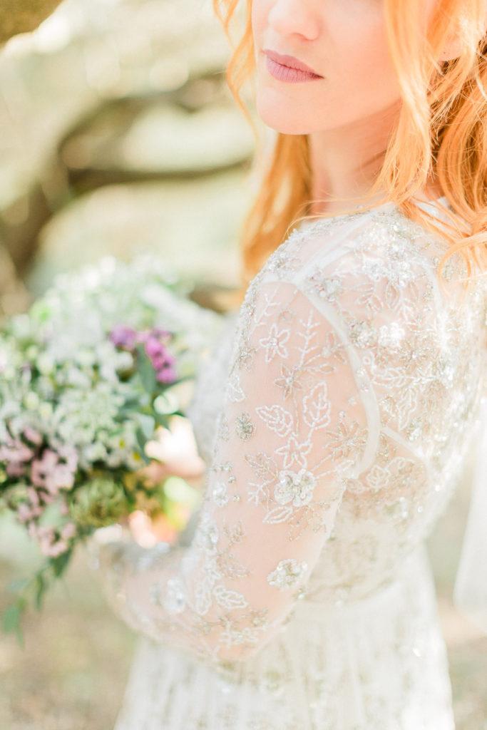 beauty close up portrait of a bride