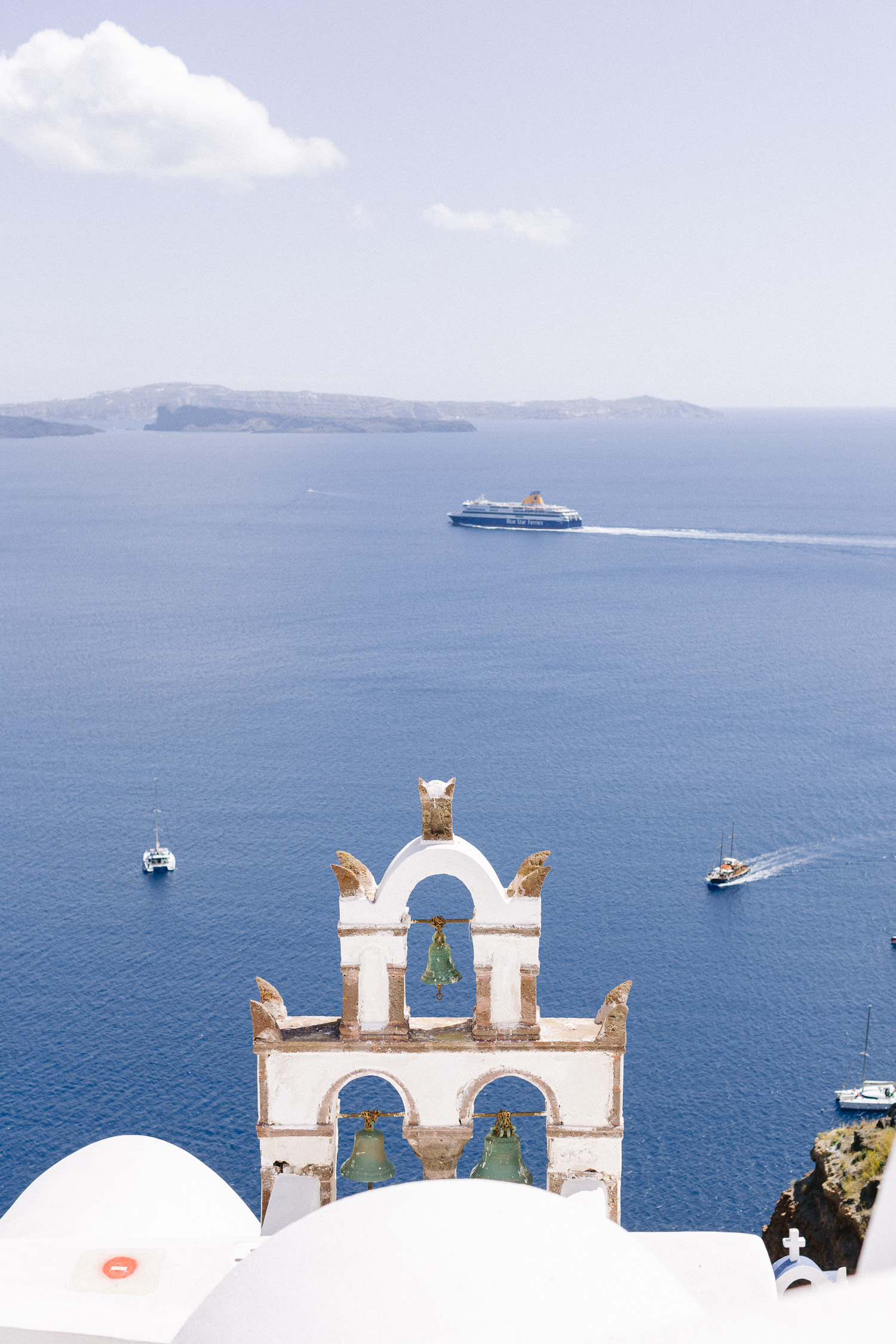 Great sea view at Santorini caldera