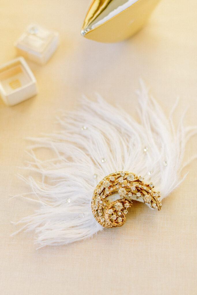 Golden Stylish bridal head piece